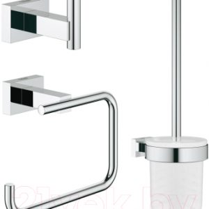 Набор аксессуаров для ванной и туалета GROHE Essentials Cube 40757001