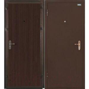 Входная дверь el'Porta Ультра Лайт Антик медь/Венге